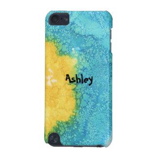 Blauwe/Gele Waterverf iPod Touch 5G Hoesje