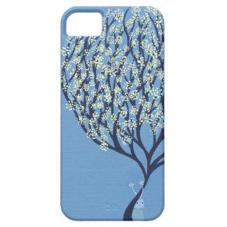 Blauwe Gelukkig Barely There iPhone 5 Hoesje