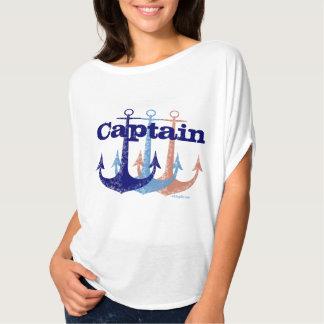 Blauwe gepersonaliseerd zeevaart van de t shirt