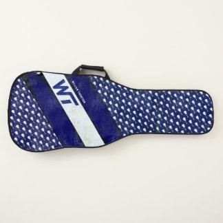 blauwe gestreept, koel & modieus gitaartassen