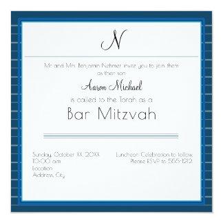 Blauwe Gestreepte Persoonlijke Aanvankelijke Bar Kaart