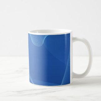 Blauwe Golven Basic Witte Mok