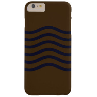 Blauwe Golven op Bruin Zand Barely There iPhone 6 Plus Hoesje
