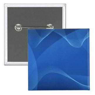 Blauwe Golven Vierkante Button 5,1 Cm