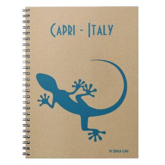 Blauwe hagedis, geko - Faraglioni, Capri, Italië Notitieboek