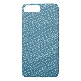 Blauwe Hand Getrokken Lijnen iPhone 8/7 Plus Hoesje