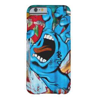 Blauwe Hand Graffiti Barely There iPhone 6 Hoesje
