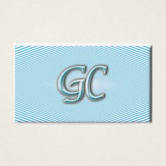 Blauwe hemel & witte Optische illusie van strepen Visitekaartjes