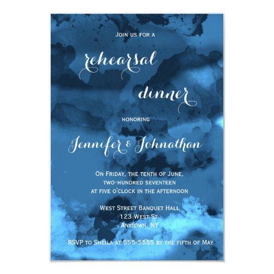 Blauwe het dineruitnodigingen van de kaart