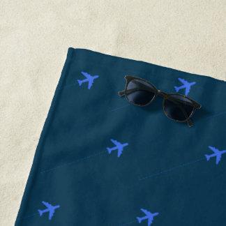 blauwe het strandhanddoek van het strandlaken