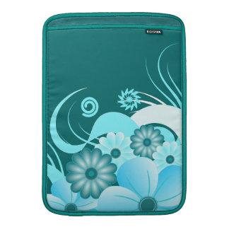 Blauwe Hibiscus de Verticaal van het Sleeve van de MacBook Air Sleeves