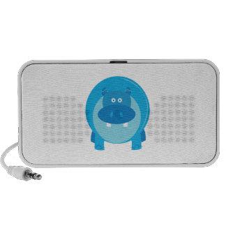 Blauwe Hippo iPhone Luidsprekers