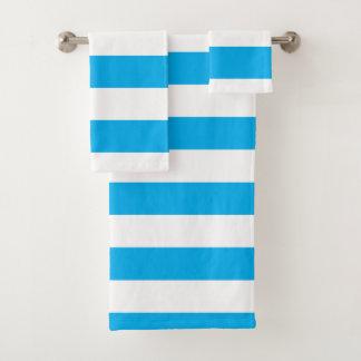 Blauwe Horizontale Strepen Bad Handdoek