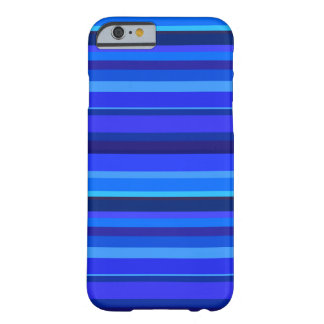 Blauwe horizontale strepen barely there iPhone 6 hoesje