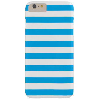 Blauwe Horizontale Strepen Barely There iPhone 6 Plus Hoesje