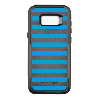 Blauwe Horizontale Strepen OtterBox Commuter Samsung Galaxy S8+ Hoesje