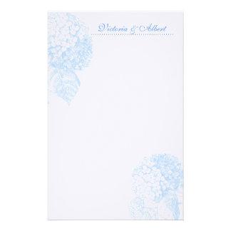 Blauwe Hydrangea hortensia Briefpapier