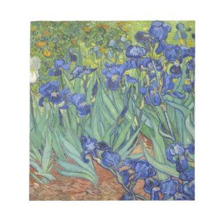 Blauwe Irissen Notitieblok