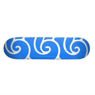 Blauwe Japanse stijlgolven Persoonlijk Skateboard