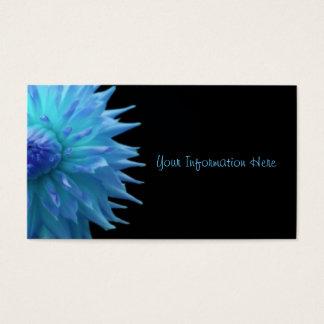 Blauwe Jennie op Zwarte Visitekaartjes
