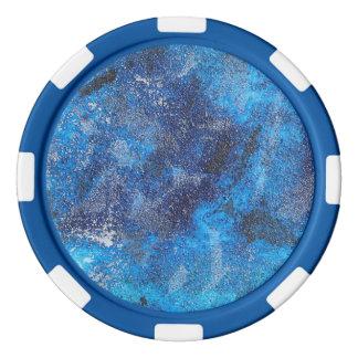 Blauwe Kosmos #1 Pokerchips