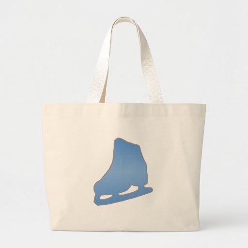 Blauwe Kunstschaats Canvas Tassen