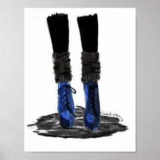 Blauwe Laarzen Poster