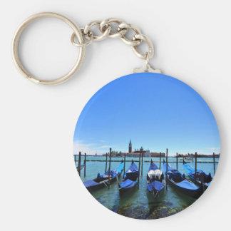Blauwe lagune in Venetië, Italië Sleutelhanger