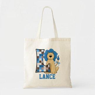 Blauwe Leeuw voor het Monogram L van de Jongen Draagtas