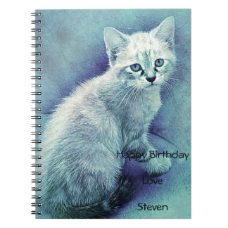 Blauwe Leuke Uniek van de Kat Notitieboek