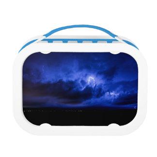 Blauwe Lunchbox van de Bliksem van de Hemel