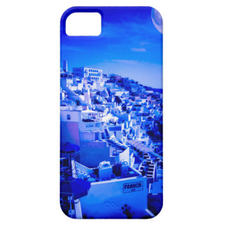 Blauwe Maan over Fira Santorini Barely There iPhone 5 Hoesje