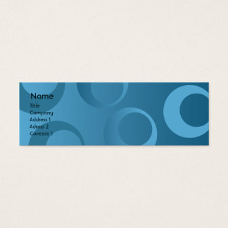 Blauwe Magere Cirkels - Mini Visitekaartjes
