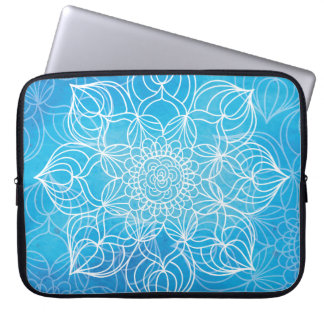 Blauwe Mandala Laptop Sleeve