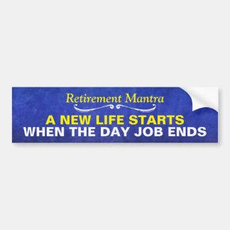 Blauwe Mantra van de Pensionering van de Waterverf Bumpersticker