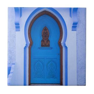 Blauwe Marokkaanse Deur Keramisch Tegeltje