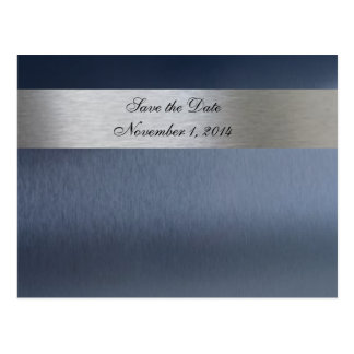 Blauwe Metaal sparen de Datum Briefkaart