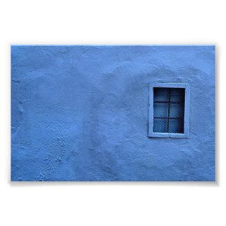 Blauwe Muur - de Druk van de Foto Foto Afdruk