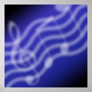 Blauwe Muziek Poster