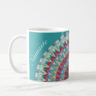 Blauwe Namaste Mandala2 Koffiemok