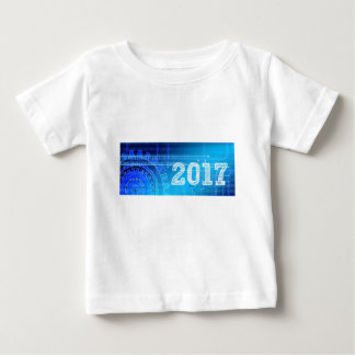 Blauwe nieuw-jaar-Dag #2 Baby T Shirts