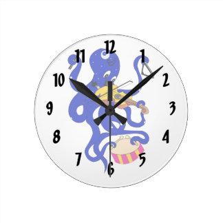 blauwe octopus die veelvoudige percussion.png spel ronde klok
