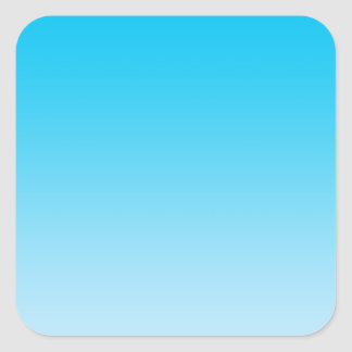 Blauwe Ombre Vierkante Sticker