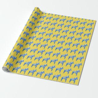 Blauwe Paarden Dala Cadeaupapier