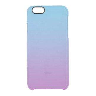 Blauwe & Paarse Ombre Doorzichtig iPhone 6/6S Hoesje