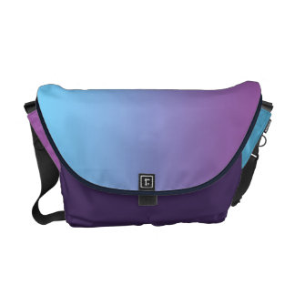 Blauwe & Paarse Ombre Messenger Bag