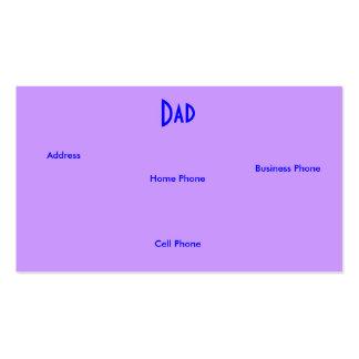 Blauwe Paarse Rozen I van de papa de Kaart van het Visitekaartje