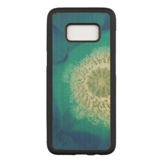 Blauwe Papaver Carved Samsung Galaxy S8 Hoesje