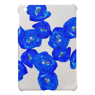 blauwe papavers iPad mini case