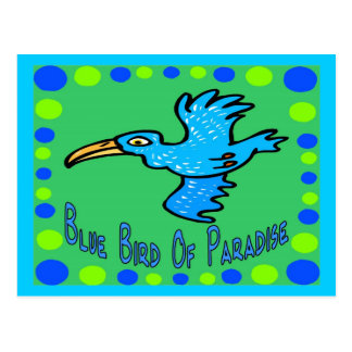 Blauwe Paradijsvogel 3 Briefkaart